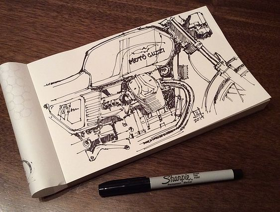 Downshift Studio Sketches Jeremy Lacy is a Industrial Designer who eats, sleeps and breathes anything and everything Moto related....