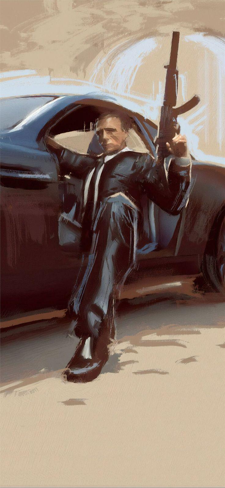 james bond car art in 2020 Bond cars, James bond cars