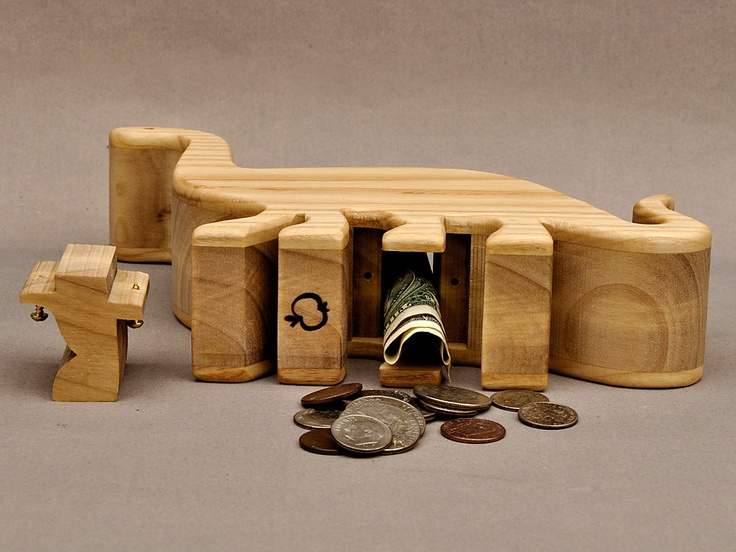 Top 25 ideas about wooden banks on pinterest coins toys for Handmade coin bank