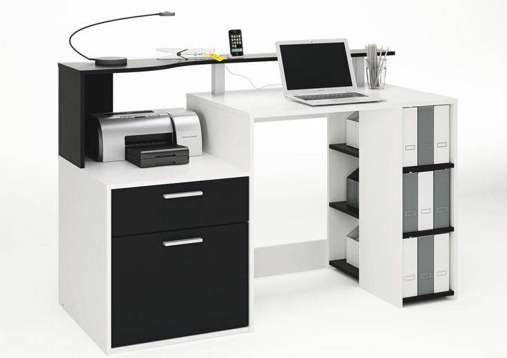 Schreibtisch Oracle weiß/schwarz | Schreibtische online | POCO