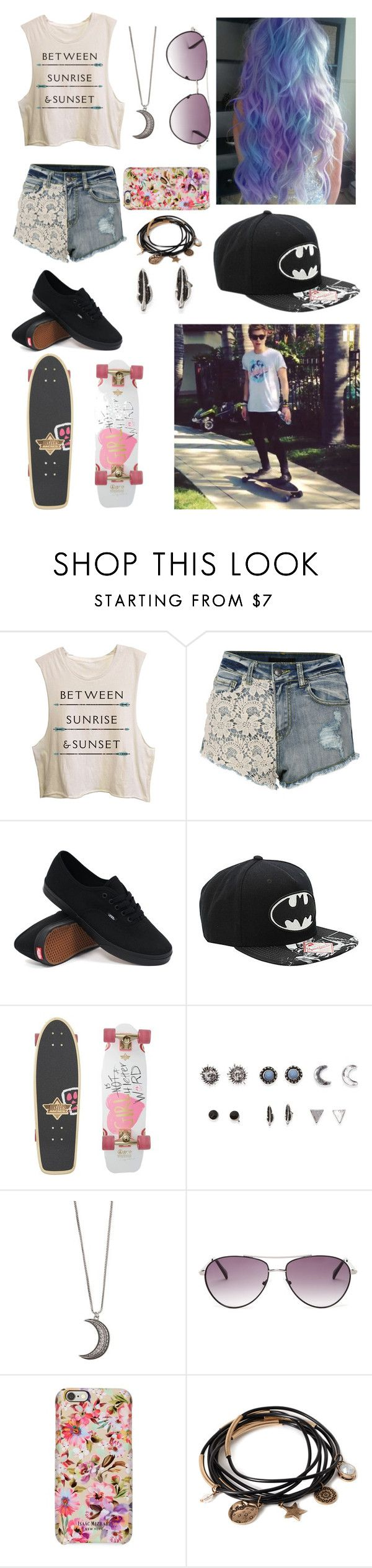 """""""Skate boarding with Luke!"""" by one-direction-tumblr-girl ❤ liked on Polyvore featuring Vans, Dusters, With Love From CA, Gypsy Warrior, BCBGMAXAZRIA, Isaac Mizrahi, Forever 21, women's clothing, women and female"""