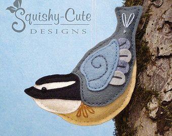 Goldfinch Sewing Pattern PDF Backyard Bird by SquishyCuteDesigns