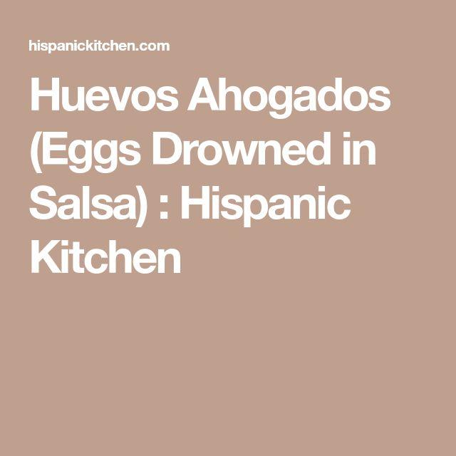 Huevos Ahogados (Eggs Drowned in Salsa) : Hispanic Kitchen