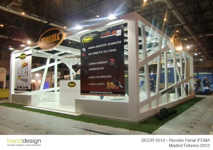 """Stand realizado para la Empresa """"PAREDES"""" en la Feria Internacional de la Seguridad SICUR 2012 en el Recinto Ferial de Madrid IFEMA en Marzo 2012"""