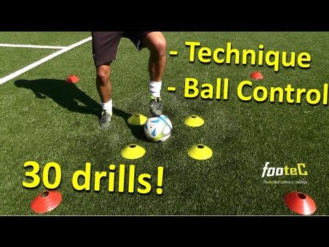 Coerver Coaching l Fast Footwork & Ball Mastery - 30 *GREAT* Football drills to improve Ball Control - YouTube