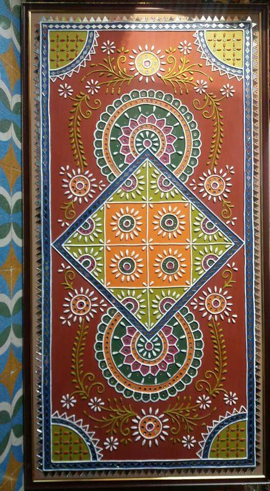 mud work #gujarati traditional