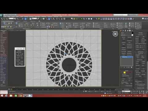 Modeling Tutorial: Building A Round Starburst Window And Wall Structure In 3dsMax (NO Booleans) - YouTube