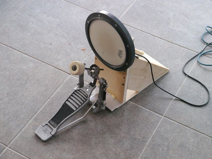 DIY electronic drum kick pedal