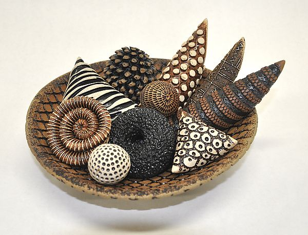 Bowls and Rattles II by Kelly Jean Ohl: Ceramic Sculpture available at www.artfulhome.com