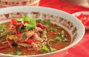 Simmered Beef in Hot Chilli Soup Recipe