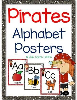 Pirate Alphabet Posters Perfect for back to school classroom dcor and Pirate themes.