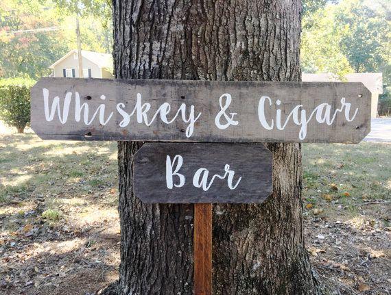 Whiskey & Cigar Bar, Whiskey Bar, Cigar Bar, Rustic Bar Sign, Wedding Bar Sign, Wedding Sign Wood Barn Wood Wedding Sign Rustic Wedding Sign, Man Cave, Woman Cave, Bar, Home Bar