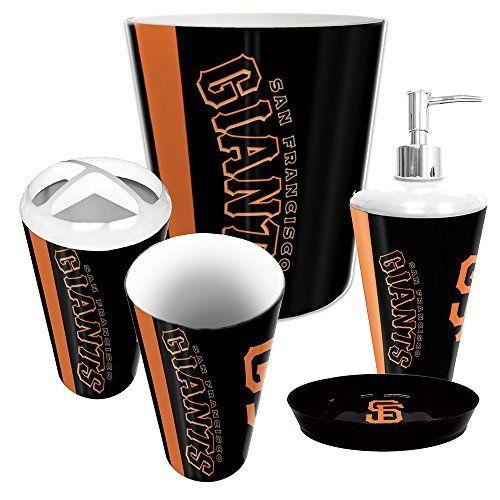 San Francisco Giants MLB Complete Bathroom Accessories 5pc Set  http://www.sportstation.com/Francisco-Giants-Complete-Bathroom-Accessories/dp/B00MQ2FY88