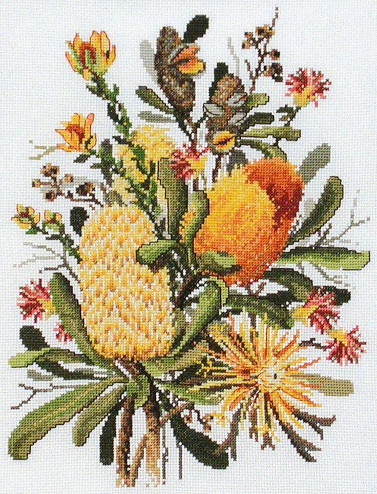 Banksias Cross Stitch Image