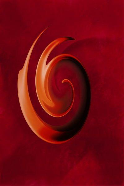 'Abstrakt Spirale' von Christine Bässler bei artflakes.com als Poster oder Kunstdruck $16.63