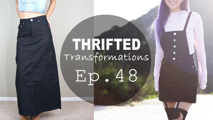 DIY Overall Dress   Thrifted Transformations Ep. 48