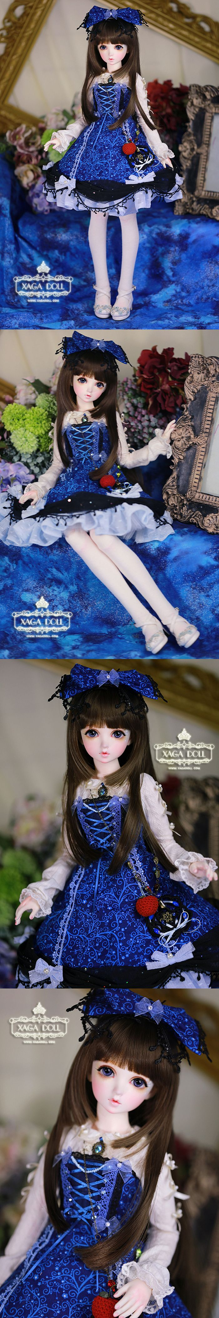 LIMITED Blue Dress 1/3 Girl AOI Outfit for SD13 size Ball-jointed Doll BJD Clothes_CLOTHING_Ball Jointed Dolls (BJD) company-Legenddoll