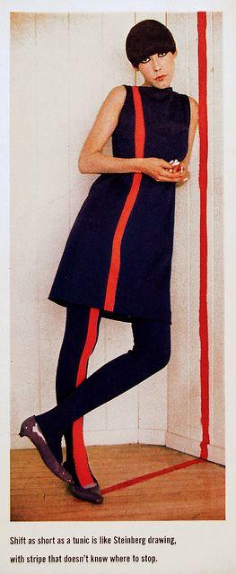 Slip-top wool with Matching Leggings  Peggy Moffitt, fashion by Rudi Gernreich, 1965