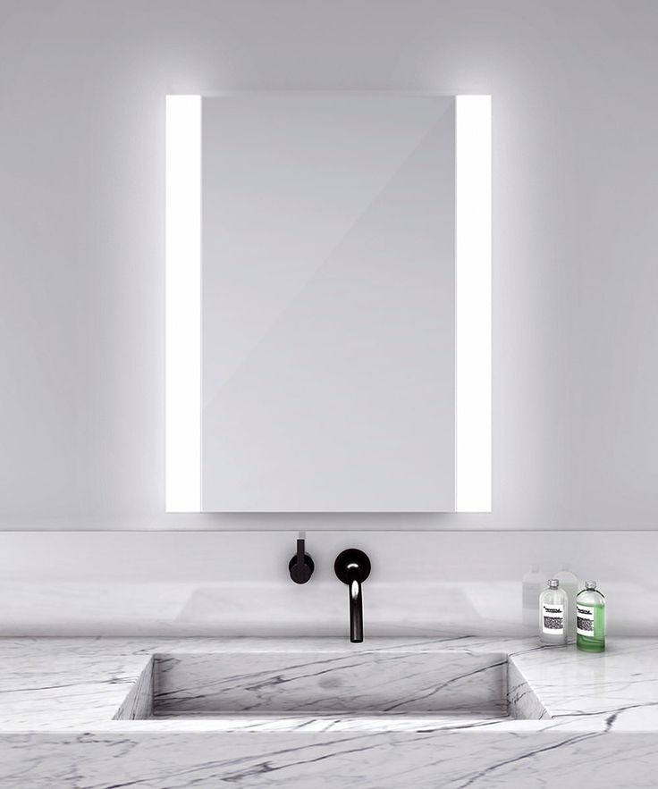 novo vertical lighted mirror modern bathroom - Modern Bathroom Lighting