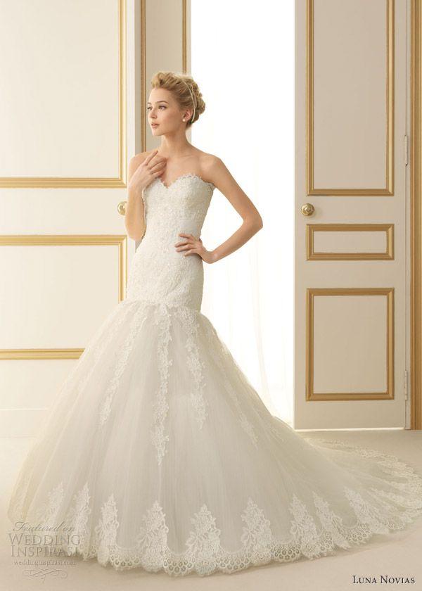 luna novias 2013 terol drop waist wedding dress ... breathtaking! perfect modern dress with a vintage feel
