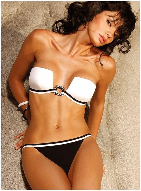 I need this bikini...and a tropical beach to wear it to! Lol PM-- Extreme Bandeau Bikini - Jolidon Fashion Swimwear