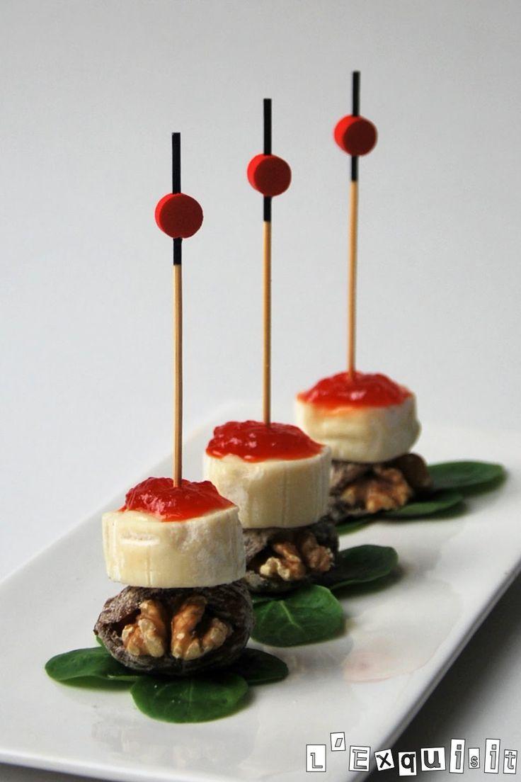 Bocadito de queso de cabra, higos secos y nueces | L'Exquisit con higos con nueces de www.eldatilero.com en http://blogexquisit.blogs.ar-revista.com