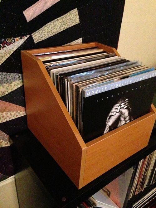 bin e from vinyl record lp storage ideas. Black Bedroom Furniture Sets. Home Design Ideas