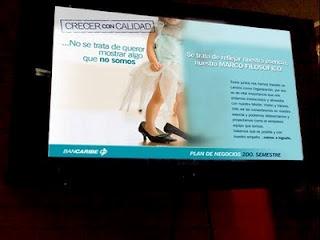 BANCARIBE emplea Digital Signage para transmitir su imagen y misión en Carteleras Digitales por @IMVINET #DigitalSignage