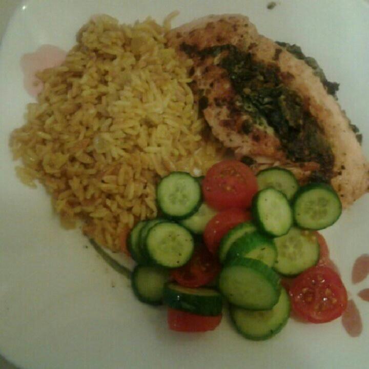 Spinach Feta Stuffed Salmon | My Cooking Playground | Pinterest