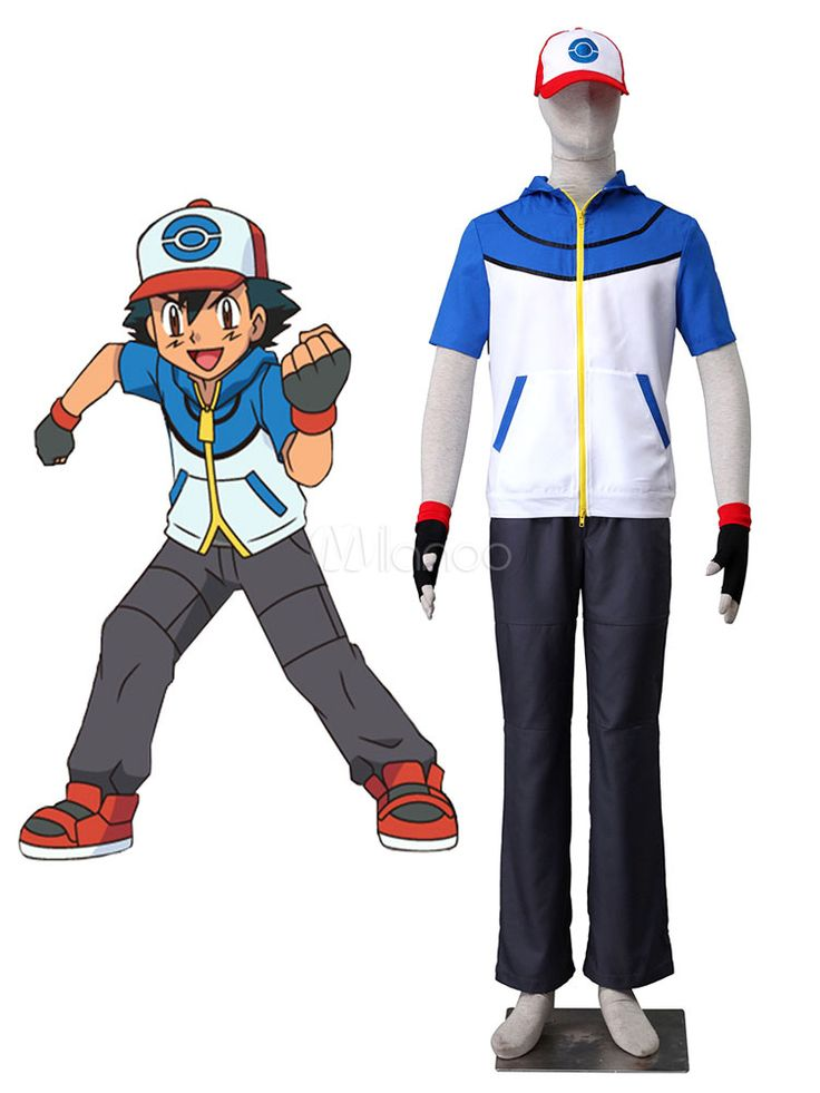 Pocket Monster Pokemon Go Ash Ketchum Cosplay Costume                                                                                                                                                                                 More