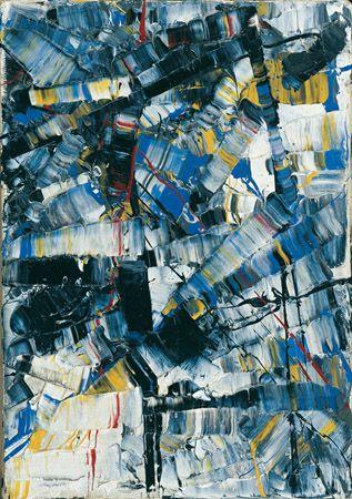 Jean Paul Riopelle, Perce-neige, vers 1956, huile sur toile, 27 x 19 cm