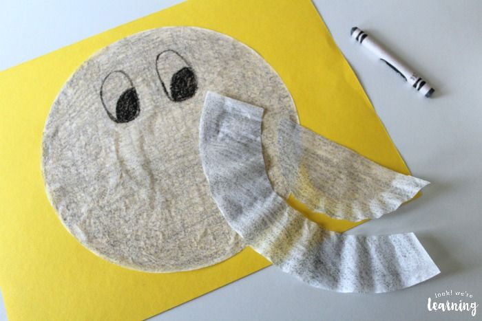 Making a Coffee Filter Elephant Craft