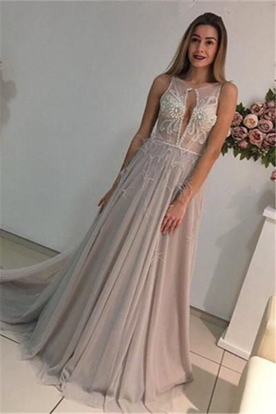 687bce07be543 New Arrival Long Evening Dress with Crystal