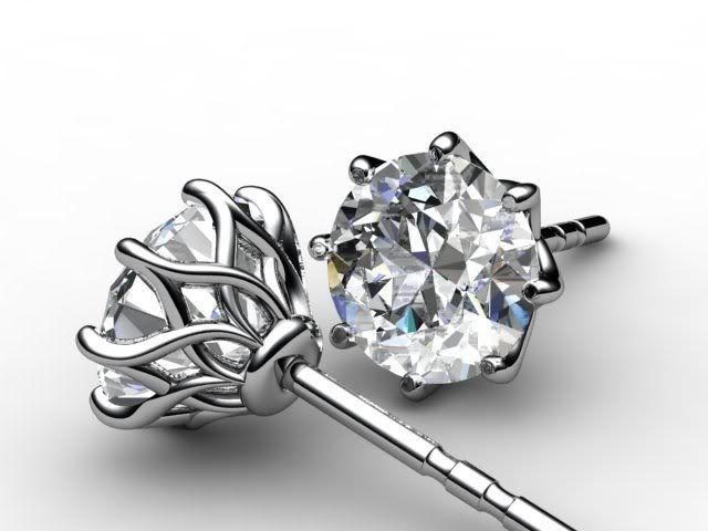 Mark Morrell strikes again... Diamond earring studs in what looks like an adapte...