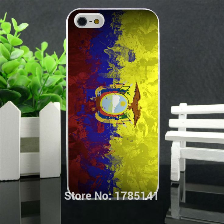 1pcs Ecuador Flag Art hard white Skin Case for iphone 5 5s 4 4g 4S 5c Retail