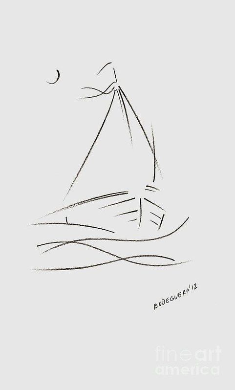 Simple Sailboat Drawing Poster by Mario Perez. All posters are professionally printed, packaged, and shipped within 3 - 4 business days. Choose from multiple sizes and hundreds of frame and mat options.