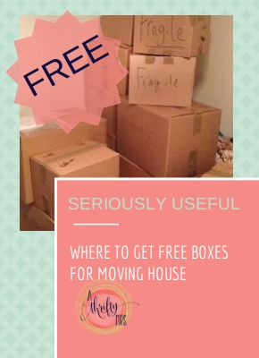 Where to get free boxes for moving house!  My friend says that the fruit boxes from the Grocery stores are the best!