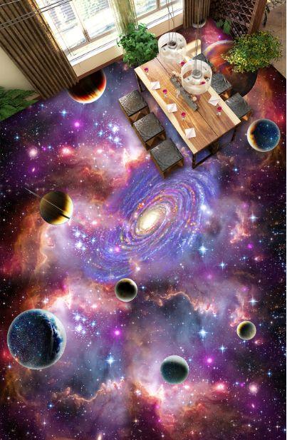 3D Star Vortex 107 Floor Mural   AJ Wallpaper