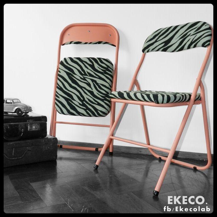 Vendidas sillas plegables restauradas estiloindustrial - Sillas restauradas ...