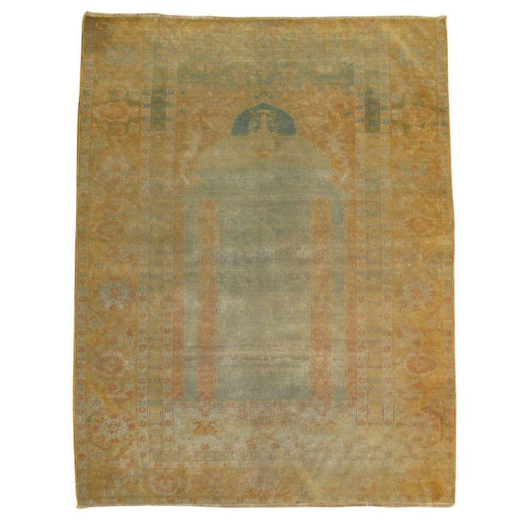 Turkish Keysari Prayer Rug | From a unique collection of antique and modern turkish rugs at http://www.1stdibs.com/furniture/rugs-carpets/turkish-rugs/