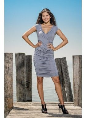 Louisa Okonye Elisa Fitted Ruched Jersey Dress. Buy @ http://thehubmarketplace.com/Elisa-Fitted-Ruched-Jersey-Dress