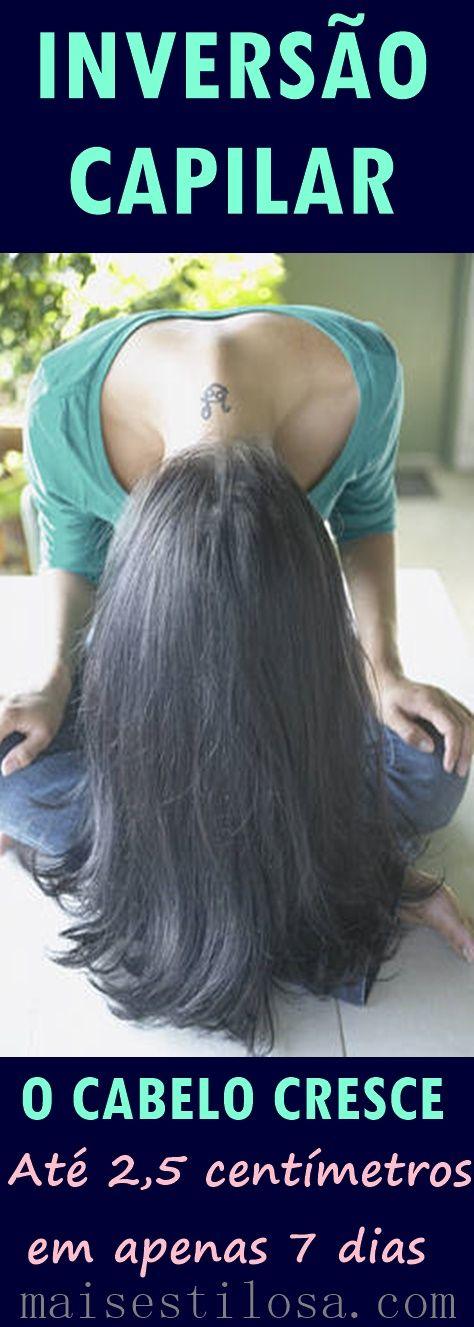 Método da Inversão Capilar: O cabelo crescer muito rápido em apenas uma semana.  #ProjetoRapunzel | O método de inversão capilar faz o cabelo crescer mais rápido em apenas 7 dias (1 semana). É feito com massagem capilar e óleos vegetais como óleo de rícino, coco, abacate e azeite de oliva. #cronogramacapilar #cabelocrescer @maisestilosa #inversiomethod The Inversion Method for Hair: Grow an Inch of Hair in 7 Days