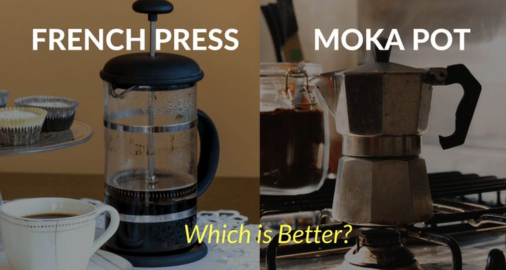 The French Press and the Moka Pot Both can make an incredible cup of coffee, but there are significant differences between the two.  The French press has developed a reputation for being the choice of gourmet coffee lovers.  While the Moka pot -- also known as the stovetop espresso maker -- is known for being a favorite of those who crave coffee with a super bold and concentrated flavor.  If you're wondering which option is best for you, here's a comparison of the two.