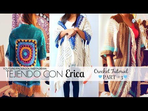TUNICA DE COLORES Crochet Tutorial Parte #2 | Tejiendo Con Erica - YouTube