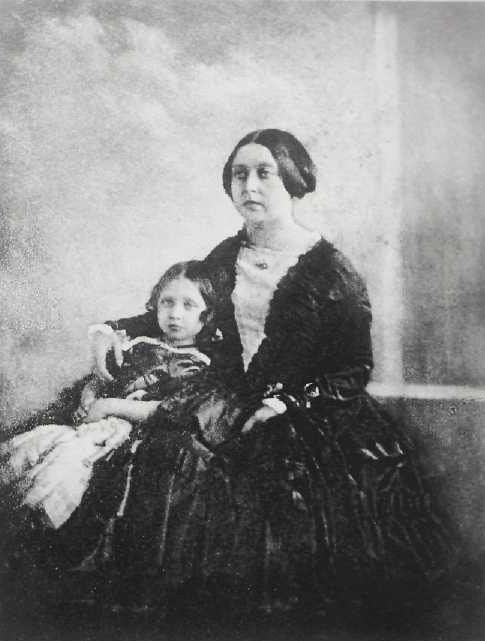 Queen Victoria with her daughter, Victoria, Princess Royal, 1844-45.