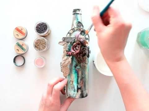 Elena Morgun - Altered Art Bottle for Finnabair CT