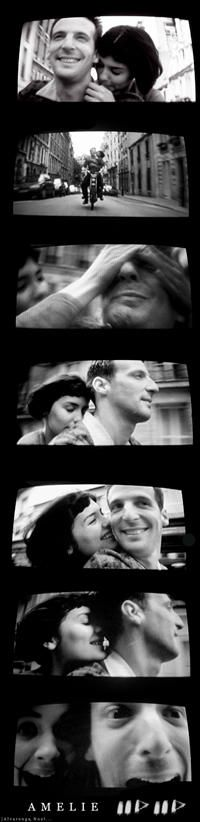Amelie: one of the most beautiful movies ever....even though I had to read it all in subtitles :)
