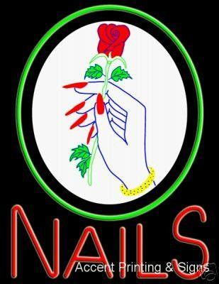 17 best Tattoo nail massage salon sign images on Pinterest | Neon ...