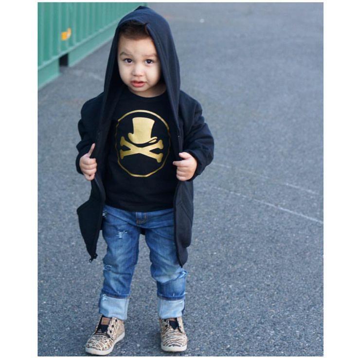 "Little Wonderland Clothing on Instagram: ""It's raining..Gold everywhere! Look at Jaxson looking so FLY.. In our gold Logo thermal + distressed denim @farmfreshdenim + those leopard toms  <HOLLA> This little is a ROCKSTAR! Happy Thursday!! #babe #fashion #fashionista #kidsfashion #boy #streetwear #fleece #hipkidfashion #trendy #style #igkiddies #stylish #stylishkids #rad #boss #love #ootd #iconic #logo #love #fleece #chic #epic #fashionicon #supermodel #rocknroll #alternative #logo"