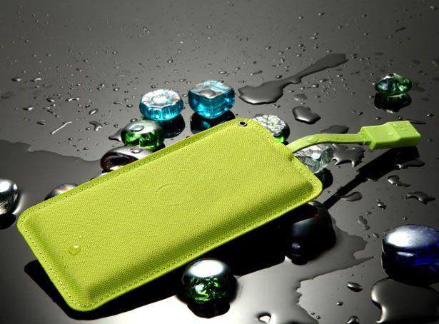 Lean Green Portable Power Machine - Ultra Thin External Battery by Tuvyah Schleifer